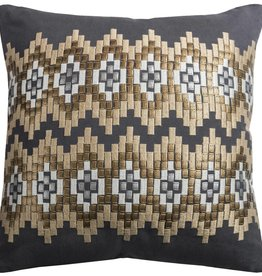 Rizzy Home Charcoal Pillow 18X18