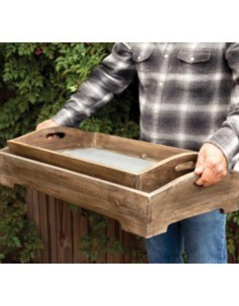 ParkHill Deep Trays with Tin Bottom Set