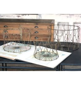 ParkHill Collapsible Wire Mercantile Basket set of 3