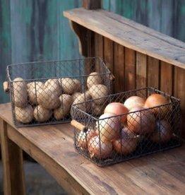 ParkHill Rectangular Wire Bin Basket set of 2