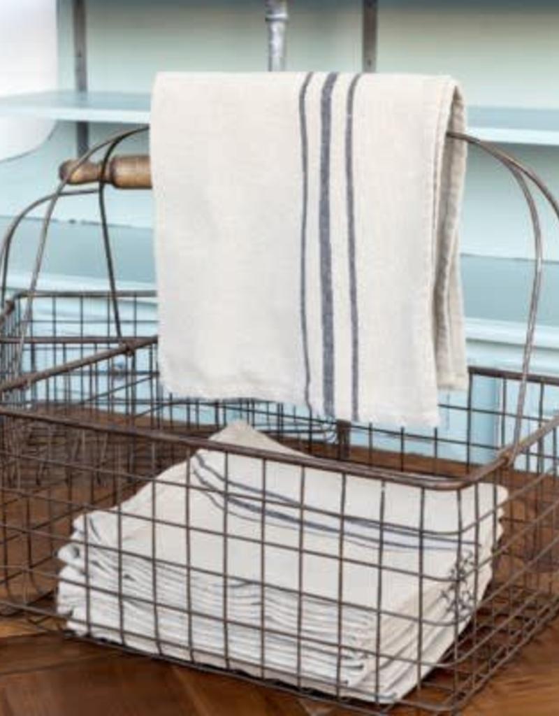 ParkHill French Stripe Linen Napkin set 12