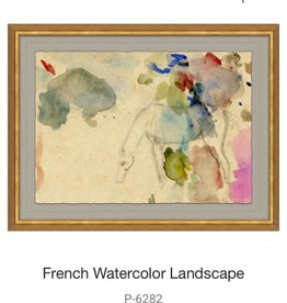 Soicher Marin French Watercolor Study Of Horse