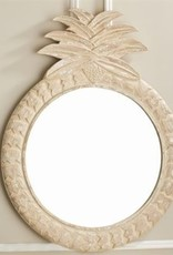 TOZAI Hand Carved Pineapple Mirror