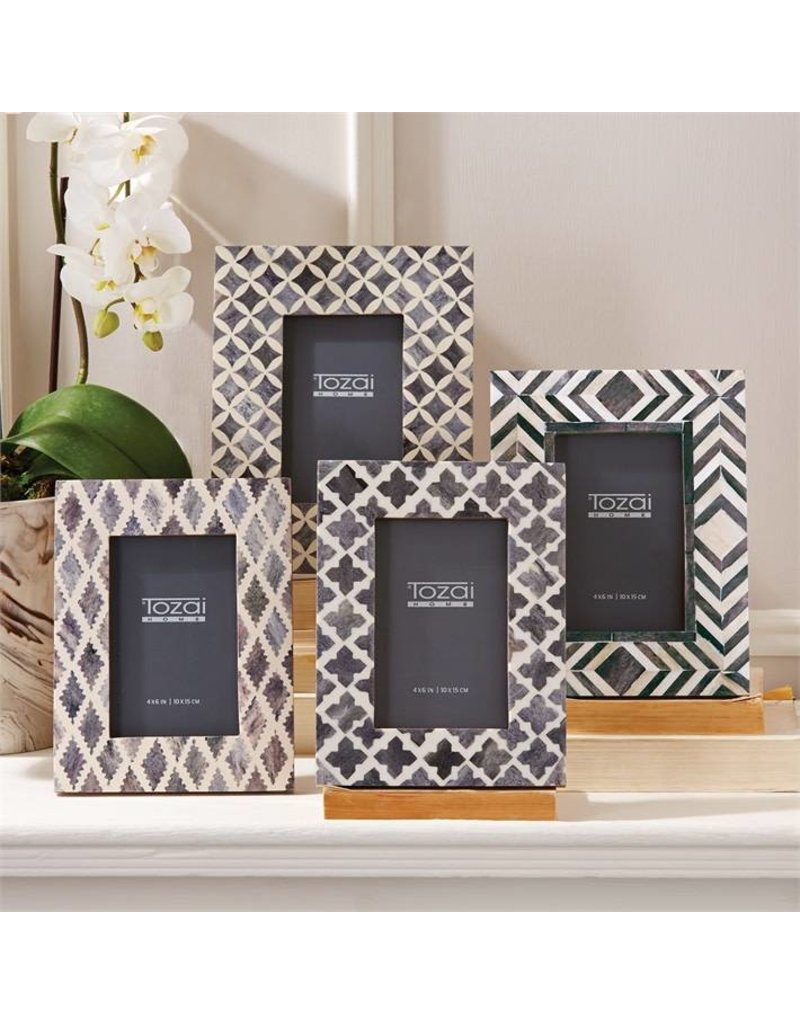 TOZAI Slate Picture Frame 4x6 assorted patterns