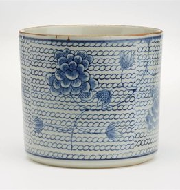 TOZAI Blue and White Chrysanthemum Vase