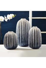 TOZAI zig zag ombre globe vase small