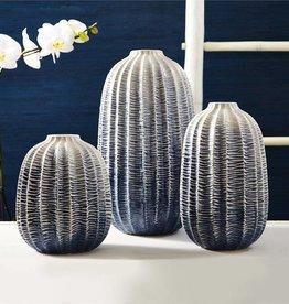 TOZAI Zig Zag Ombre Vase SMALL