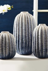 TOZAI zig zag ombre globe vase large