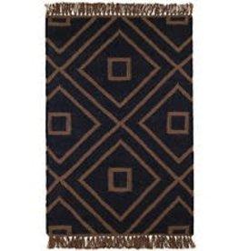 Mali Black Indoor /Outdoor Rug 3x5