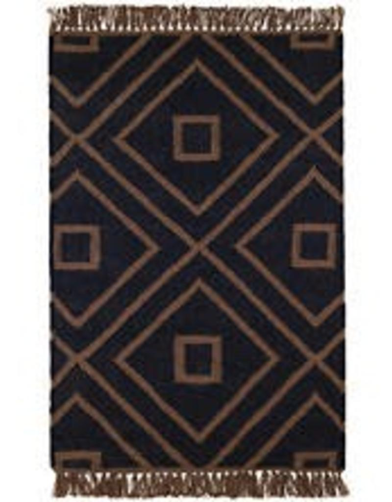 Mali Black Indoor Outdoor Rug 3x5 Miller And Company Design