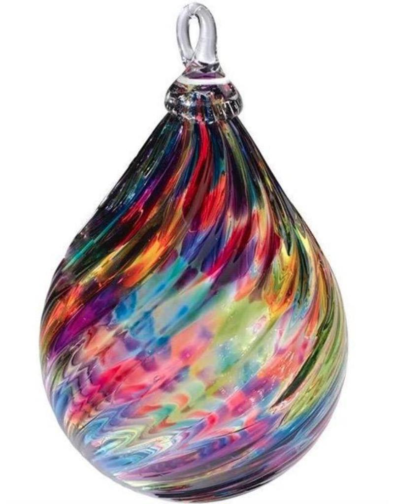 Owned Hand Blown Glass Ornament - Aurora Borealis