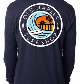 Old Naples Surf Shop ONSS Surf the Pier Long Sleeve T-Shirt