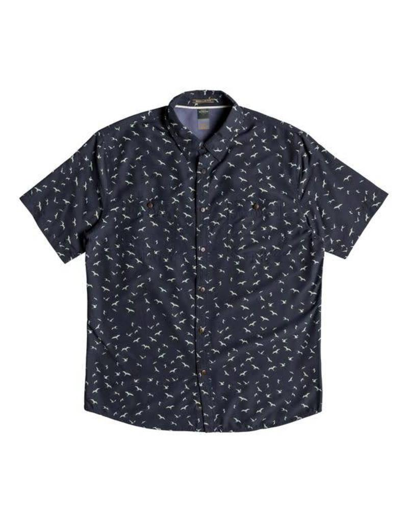 Quiksilver Quiksilver Waterman Wake Sea Flight Short Sleeve Shirt