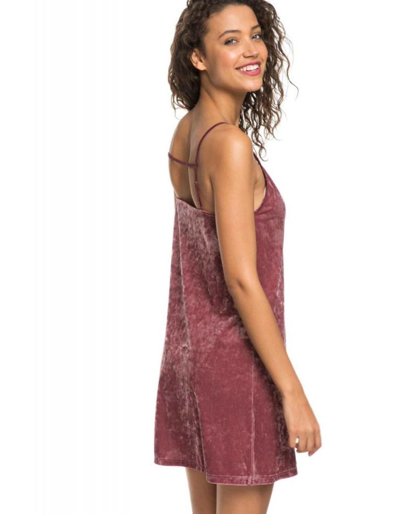 Roxy Roxy Sleepy Night Strappy Velvet Dress