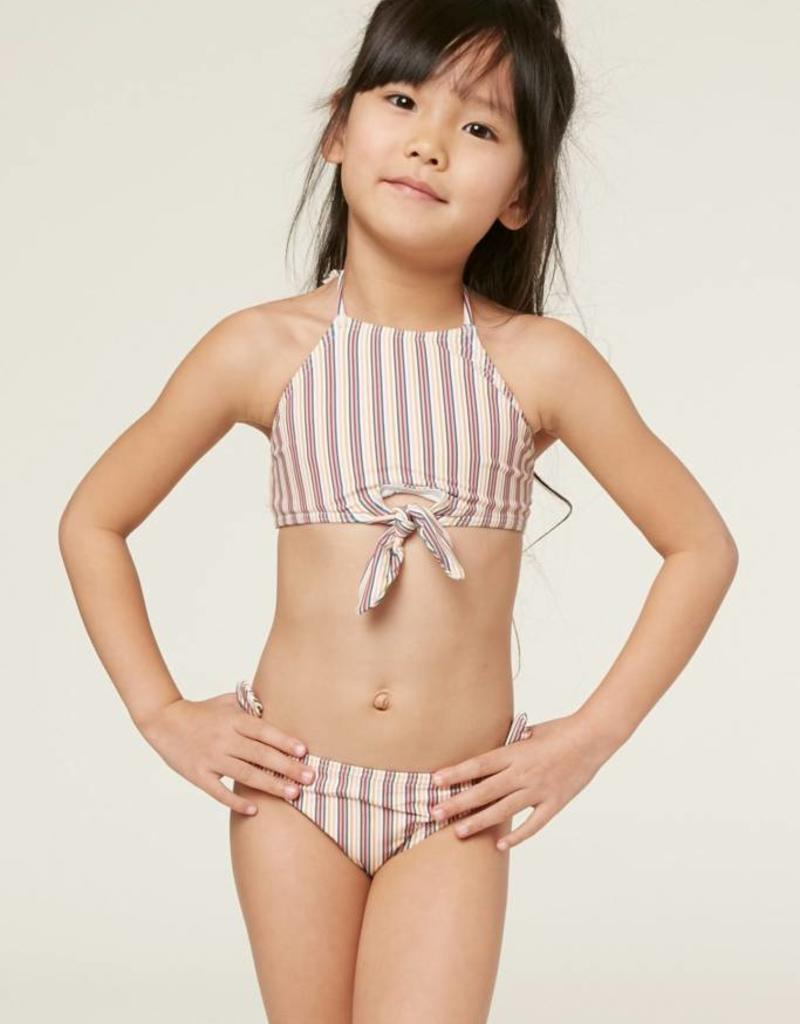 O'Neill O'Neill Little Girls Sunday Stripe Hi-Neck Swim Set