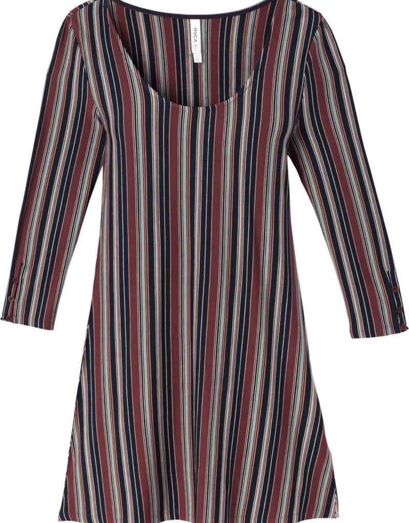 RVCA RVCA Tare Striped Dress