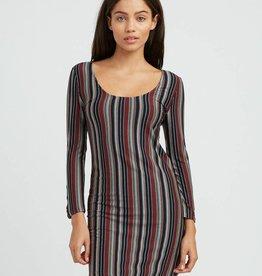 RVCA RVCA Tare Striped Dress