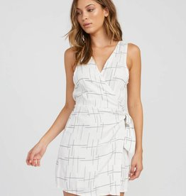 RVCA Crossed Off Wrap Dress
