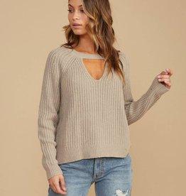 RVCA Case Knit Keyhole Sweater