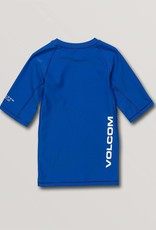 Volcom Volcom Boys Lido Solid Short Sleeve Rashguard