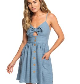 Roxy Roxy Under the Cali Sun Knot-Front Dress