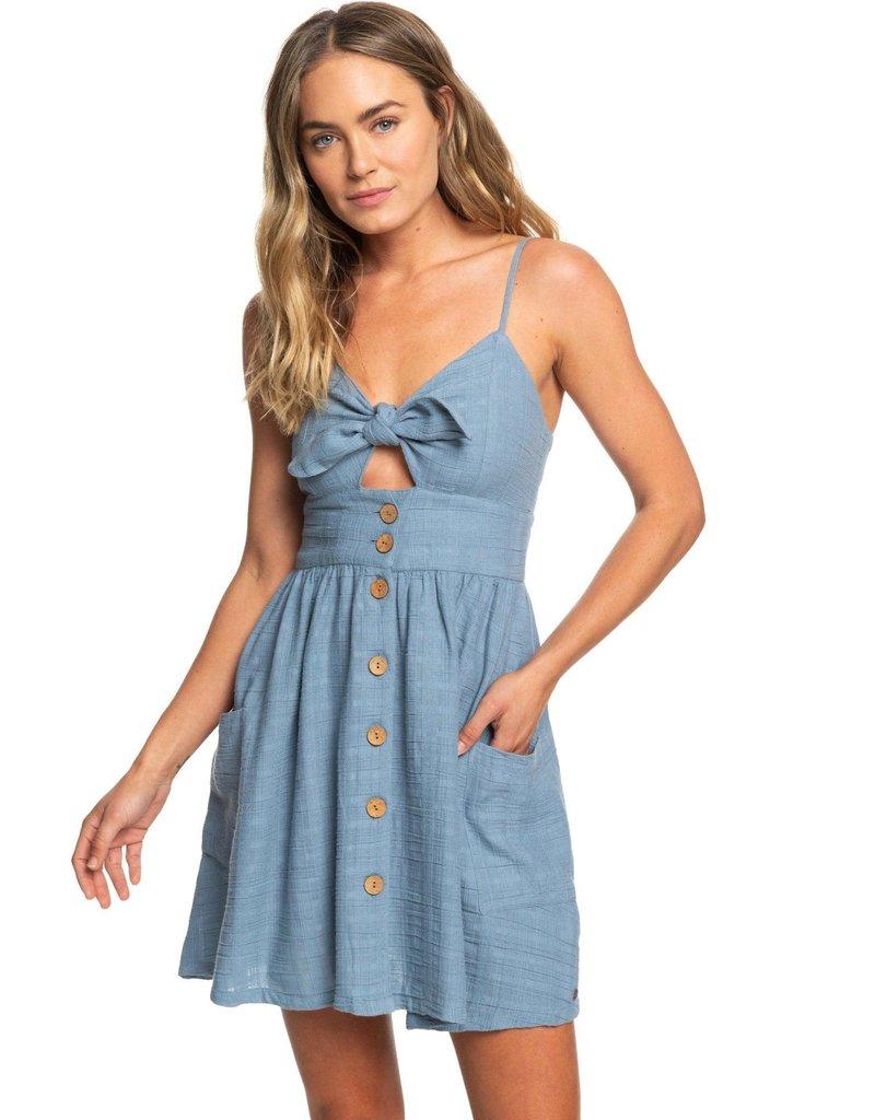 Roxy Roxy Under the Cali Sun Knot-Front Dress