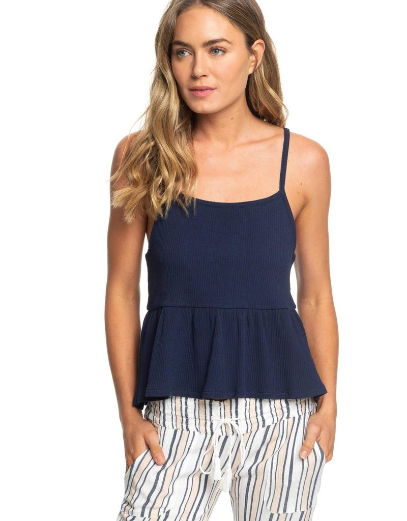 e640c7d1d1 Roxy Deep Seast Strappy Ribbed Peplum Top - Old Naples Surf Shop ...