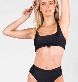 Rusty Rusty Rebel Rib Knotted Bikini Crop Top