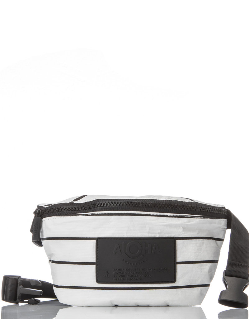 Aloha Pinstripe Mini Hip Pack, black/white