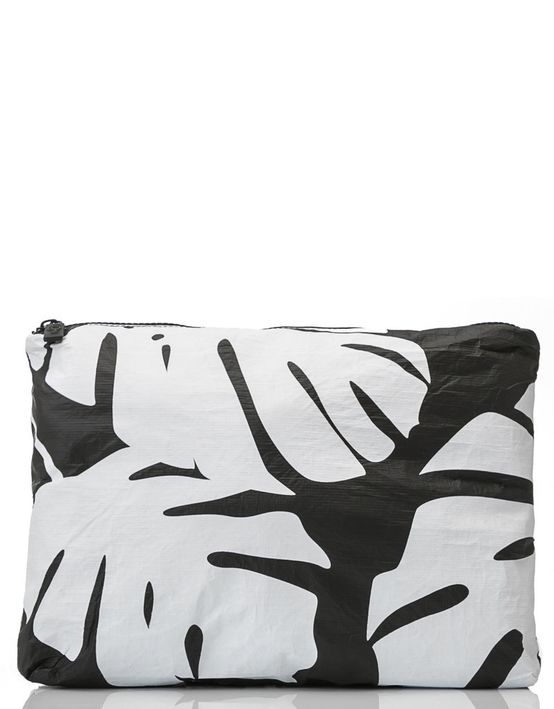 Aloha Collection Aloha Mid Monstera, White on Black