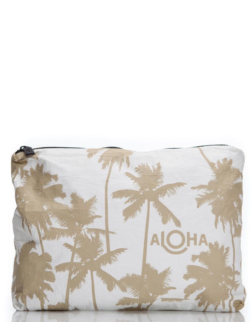 Aloha Collection Aloha Mid Coco Palms, Sand White Tyvek Sand Print