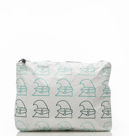 Aloha Collection Aloha mid Jack Johnson X ALOHA School of Waves Pouch