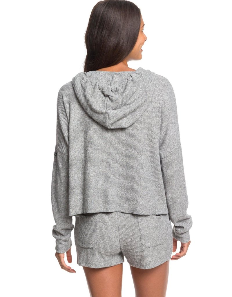 Roxy Roxy Way Back When Hooded Long Sleeve Rib Knit Top