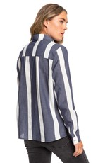 Roxy Roxy Mess Is Mine Stripe Long Sleeve Shirt