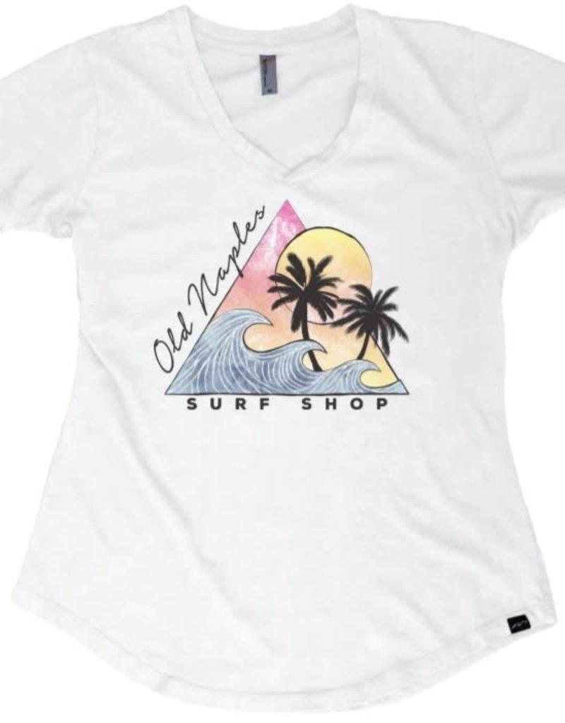Old Naples Surf Shop ONSS Women's Hedwig V-Neck T-Shirt