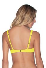 Maaji Maaji Submarine Yellow Victory Fixed Halter Bikini Top