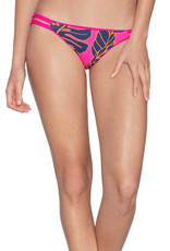Maaji Maaji Hibiscus Pink Split Cheeky Cut Bikini Bottom