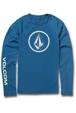 Volcom Volcom Boys Lido Solid Long Sleeve UPF 50 Rashguard