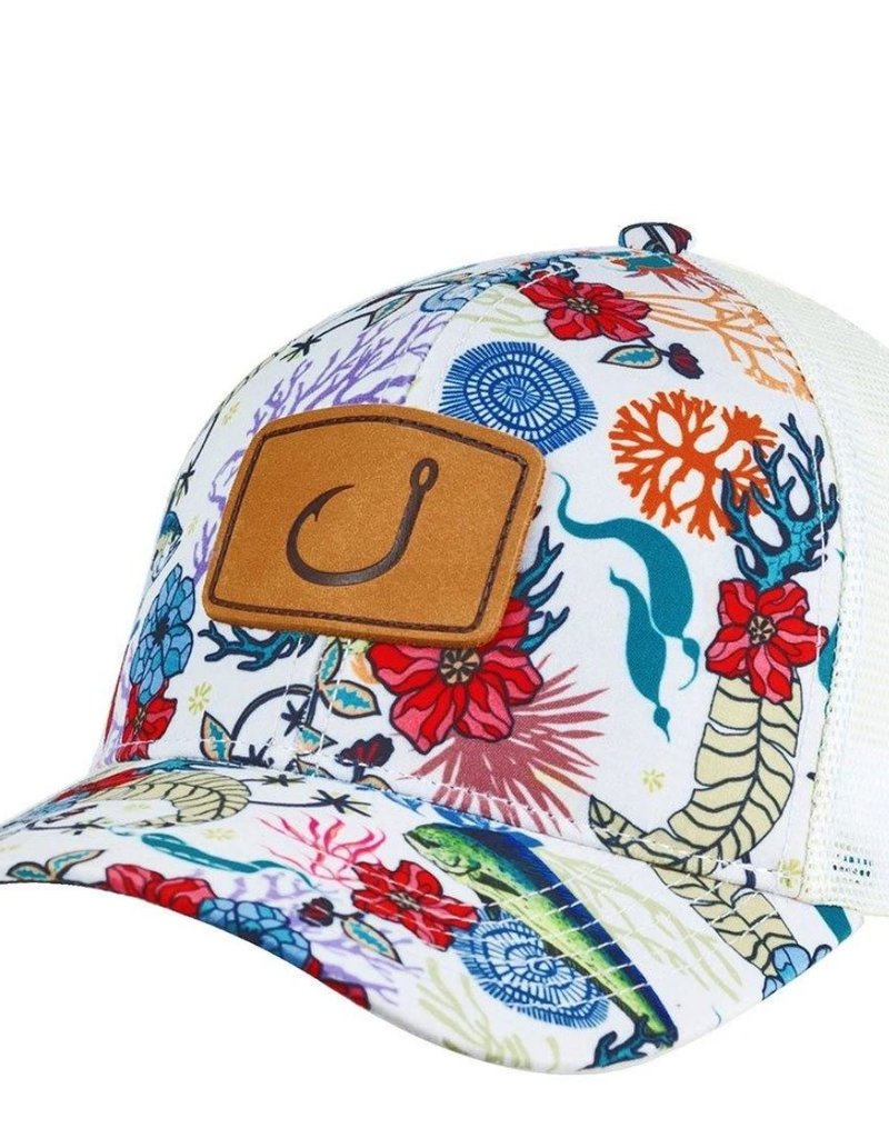Avid AVID Fish Floral Trucker Hat
