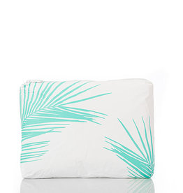 Aloha Collection Aloha mid Fronds, neon turquoise neon turquoise on white