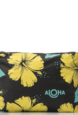 Aloha Collection Aloha mid Hibiscus, canary on black canary on black
