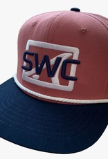 Skinny Water Culture SWC Bold Logo Hat - Red/Navy