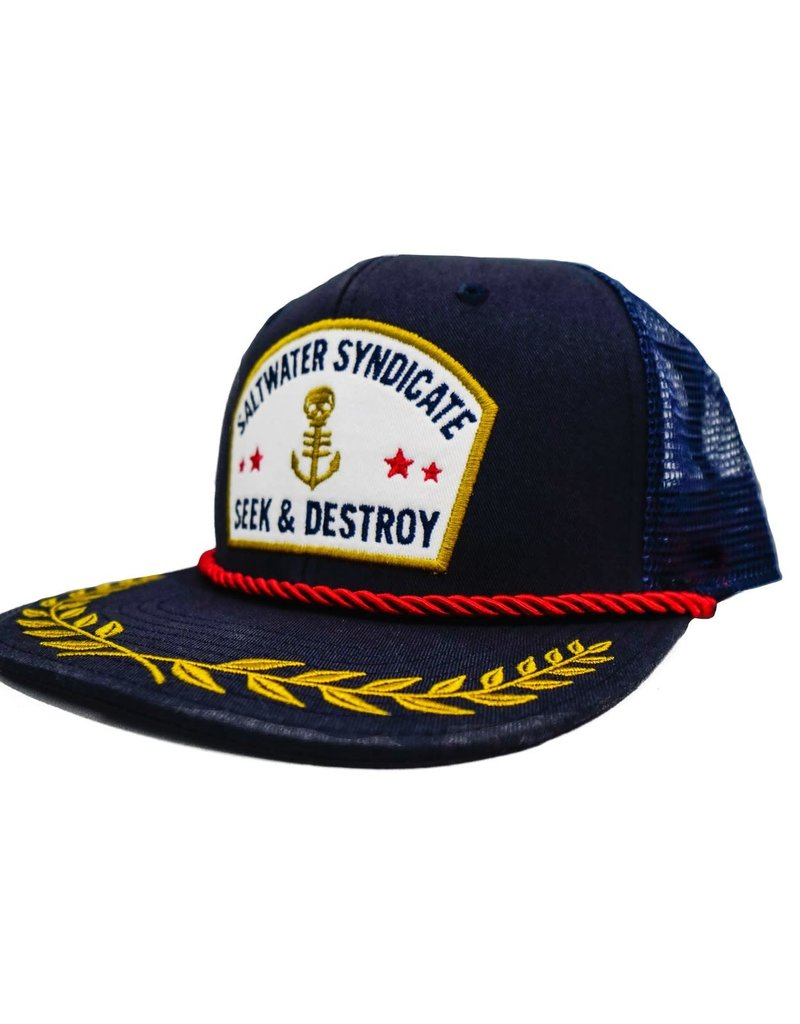 Saltwater Syndicate Saltwater Syndicate Captain Hat Blue