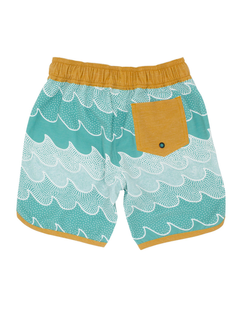 Feather 4 Arrow Feather 4 Arrow Cosmic Waves Scallop Boardshorts