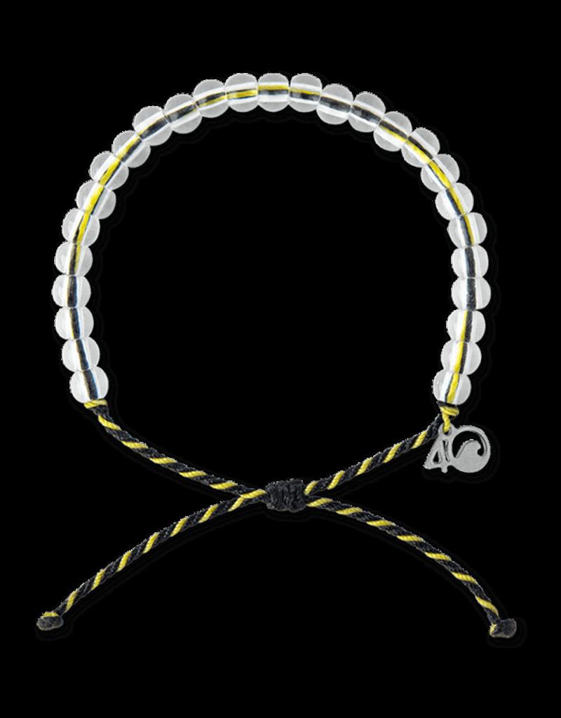 4Ocean 4Ocean Penguin Bracelet - Black/Yellow