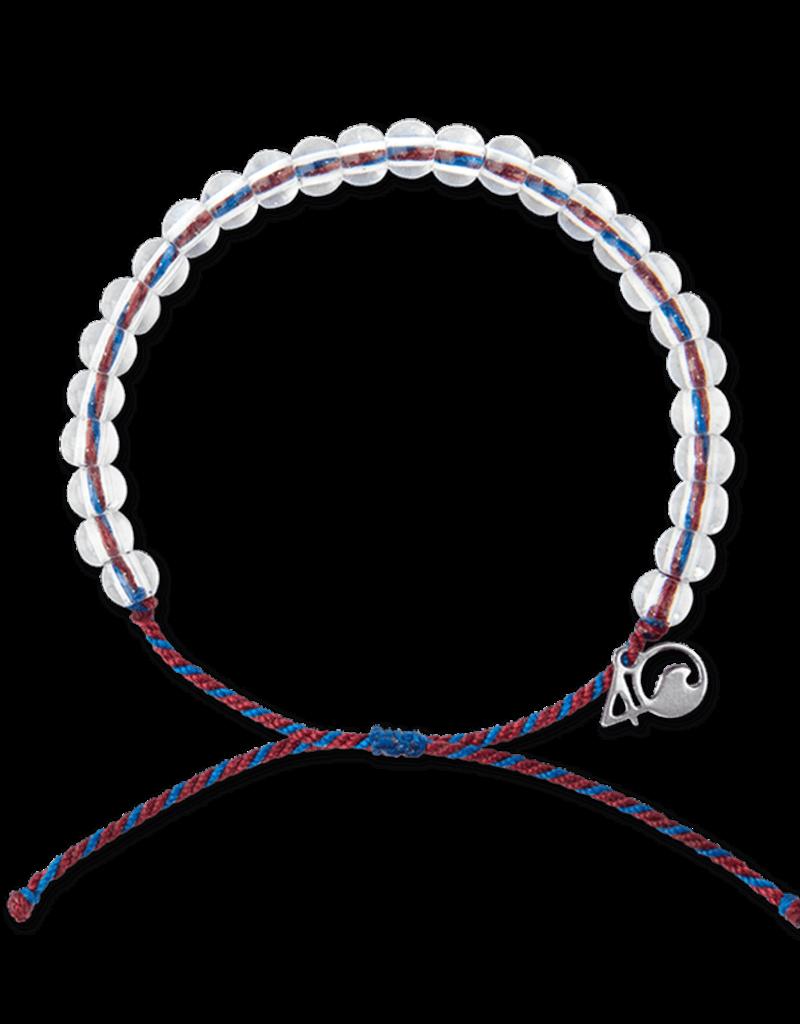 4Ocean 4Ocean Seahorse Bracelet - Maroon/Navy