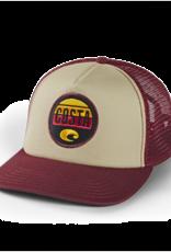 Costa Costa Foam Front Trucker Ruby Hat Maroon
