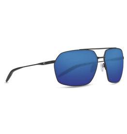 Costa Costa Pilothouse - Matte Black + Matte Black/Black-Blue Mirror 580P