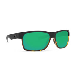 Costa Costa Half Moon Matte Black/Shiny Tortoise Frame Green Mirror 580P
