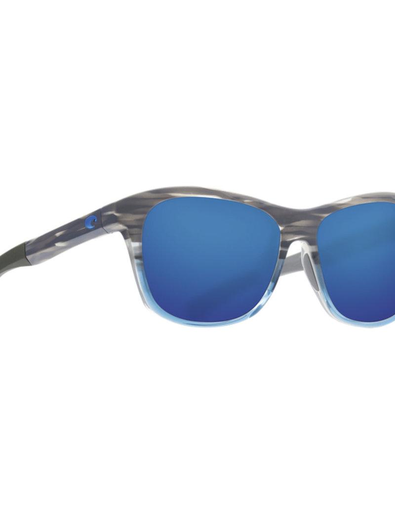 Costa Costa Vela Ocearch Shiny Coastal Fade Frame Blue Mirror 580P